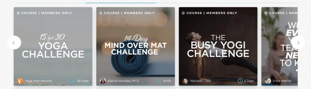 yoga international courses