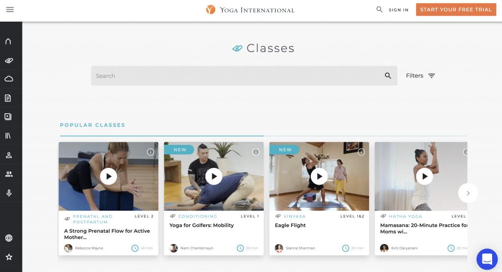yoga international classes