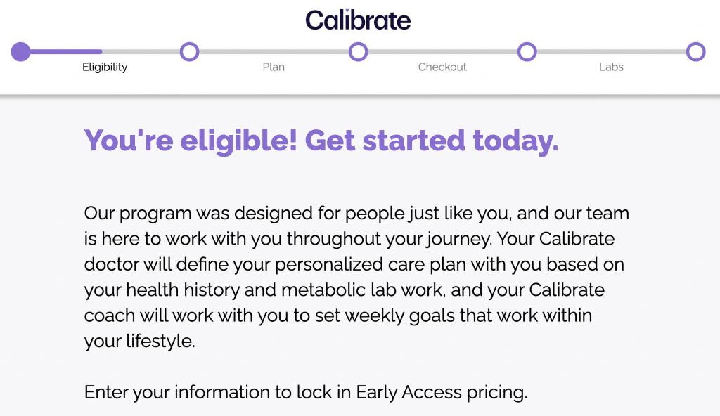 calibrate eligibility