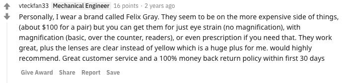 felix gray review reddit 5