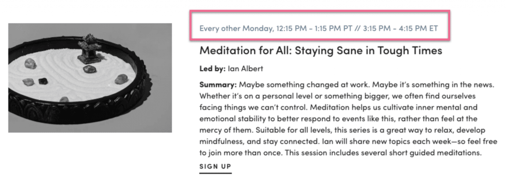 Hers support group - Meditation for All