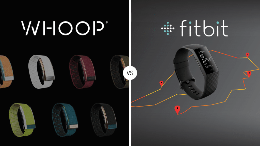 Whoop and Fitbit featured image with logos