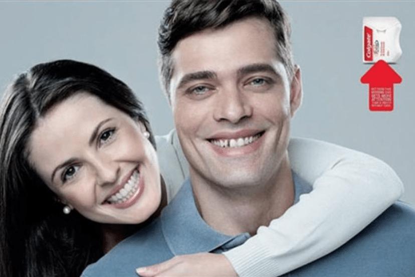 Colgate ad smile test 1
