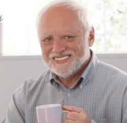 Harold smilling