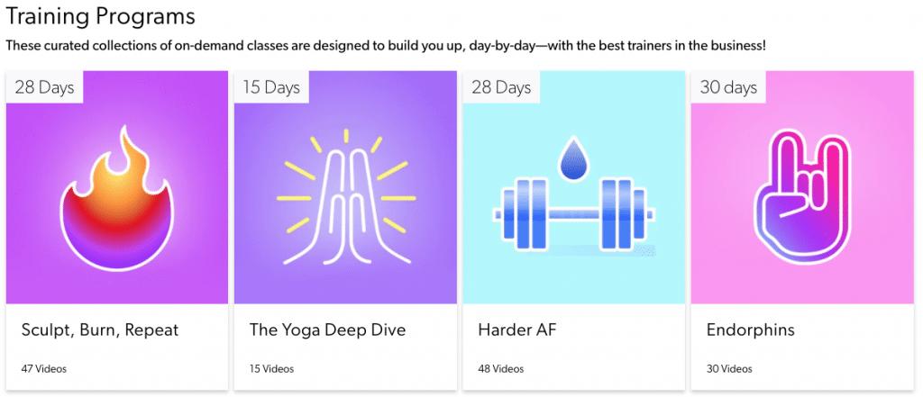 Obe fitness programs