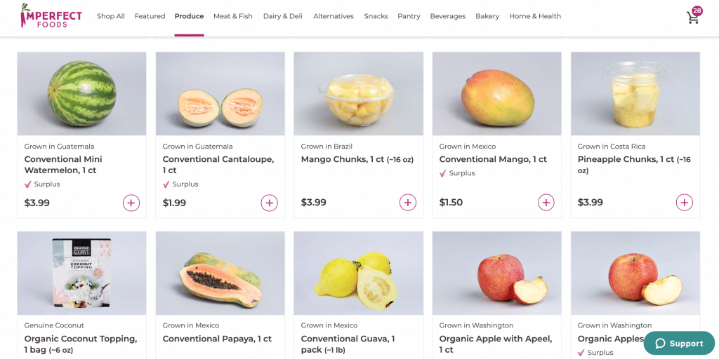 Imperfect Foods shopping experience