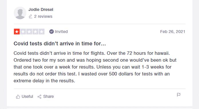 vault health review 4 from trustpilot