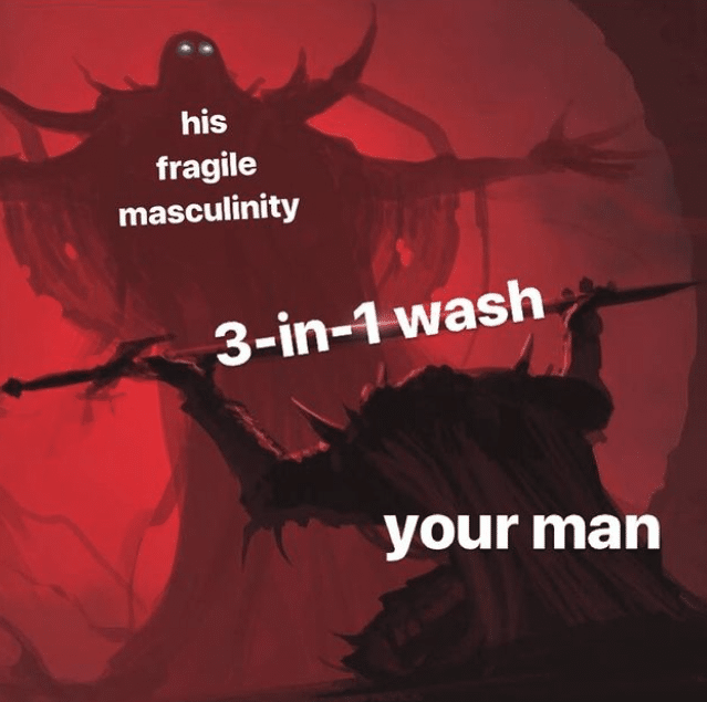 mens skincare meme