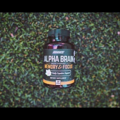 alpha brain nootropic product shot